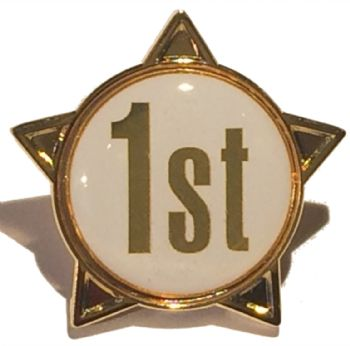 1st titled star shape badge
